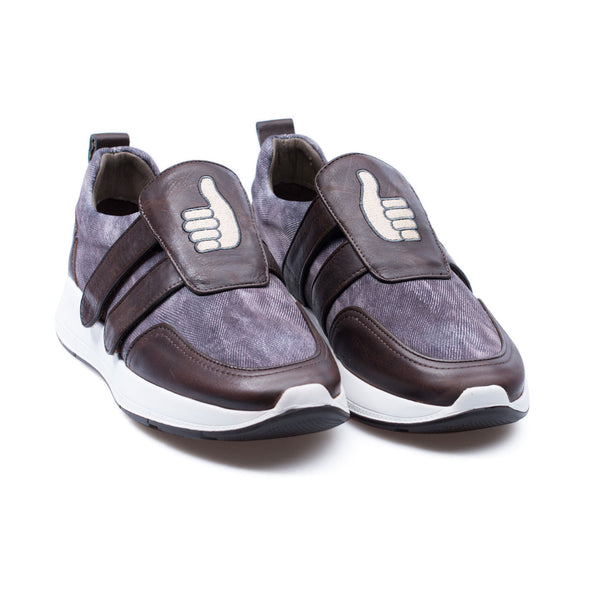 Barney - Brown & Purple - Leather & Neoprene - BUB Leather Shoes