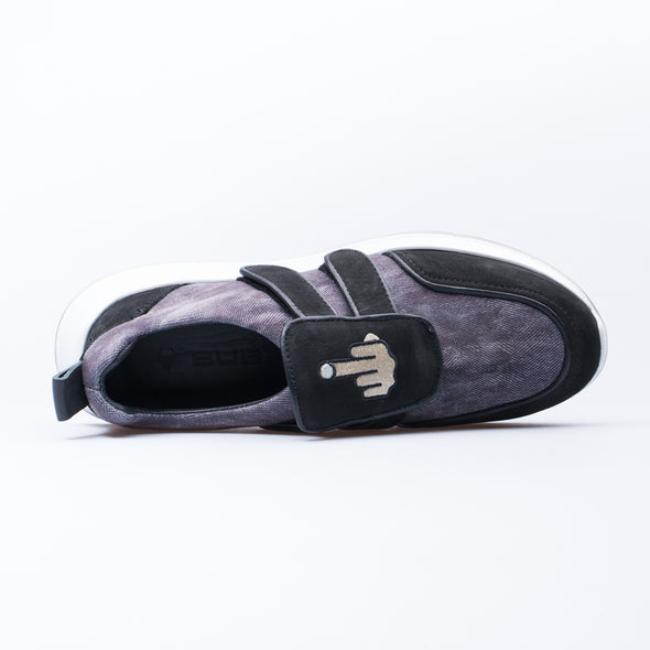 Barney - Black & Purple - Leather & Neoprene - BUB Leather Shoes