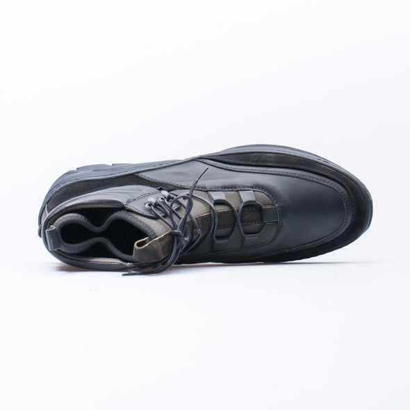 Bernard - Black & Khaki - Leather & Neoprene - BUB Leather Shoes