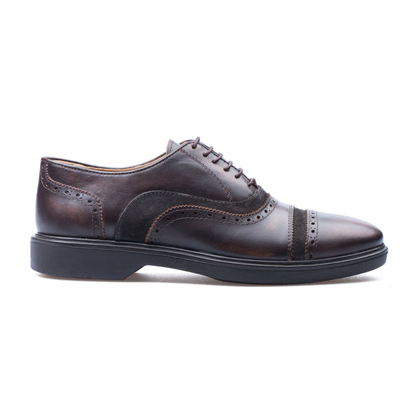 Christopher - Brown - Calf Leather & Suede - BUB Leather Shoes