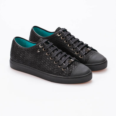 Chloe – Debossed & Mat Leather Black - BUB Leather Shoes
