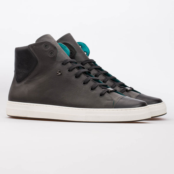 Lars – Leather Dark Grey & Black - BUB Leather Shoes