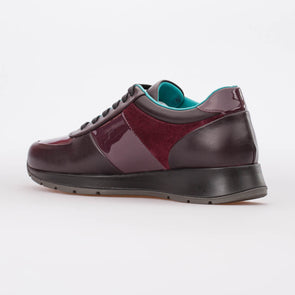 Maria – Mixed Leather Bordeaux - BUB Leather Shoes