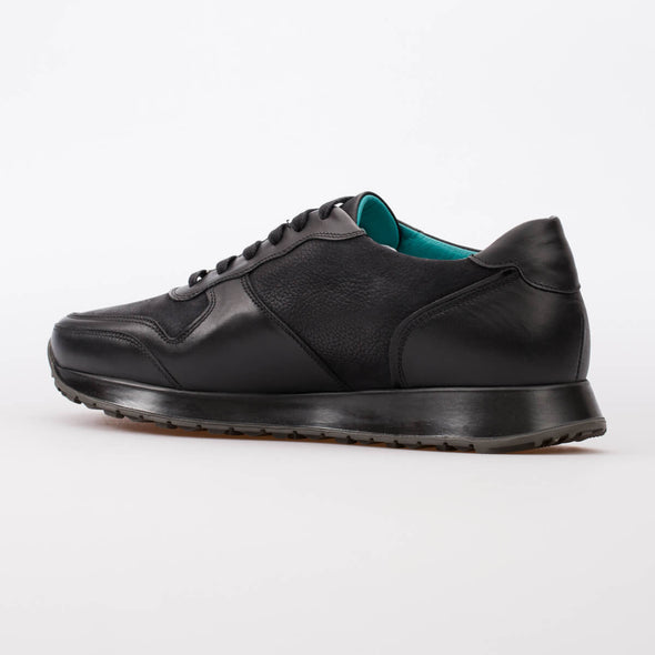 Andre – Leather & Nubuck Black - BUB Leather Shoes