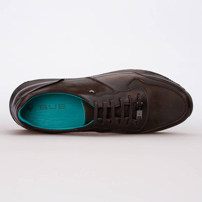 Andre – Leather & Nubuck Brown - BUB Leather Shoes