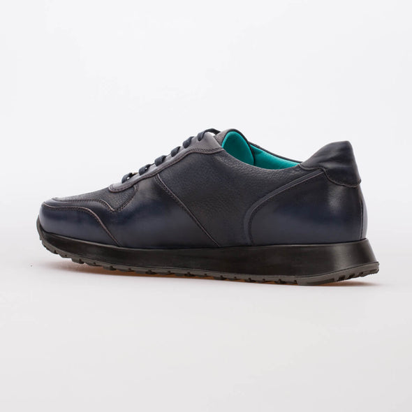 Andre – Leather & Nubuck Dark Blue - BUB Leather Shoes