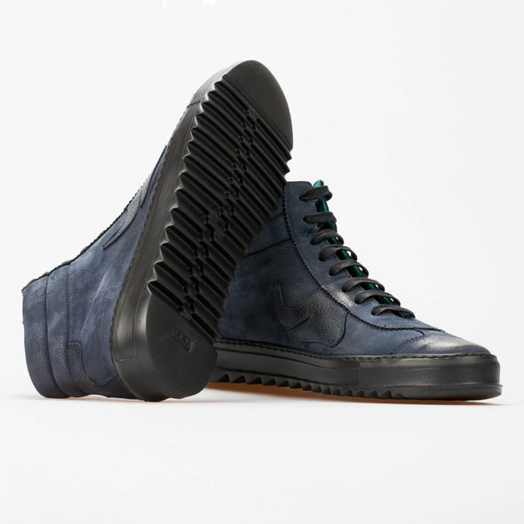 Shaun – Nubuck Dark Blue - BUB Leather Shoes