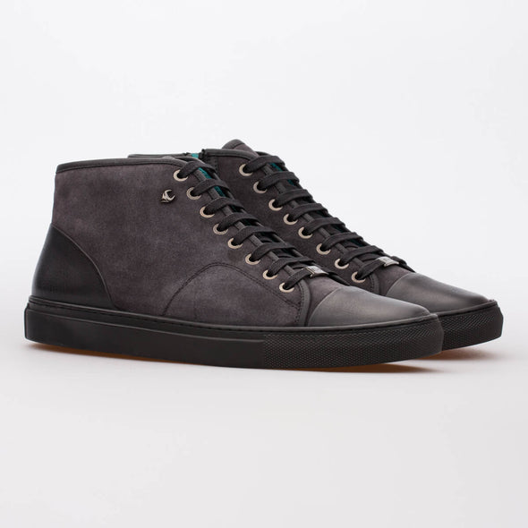 Mike – Suede Anthracite & Leather Black - BUB Leather Shoes
