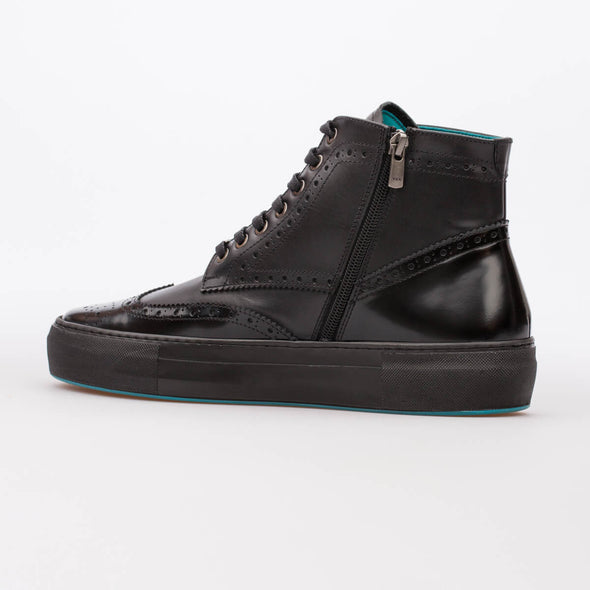 George – Leather & Lack Leather Black - BUB Leather Shoes