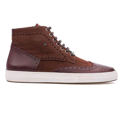 George – Nubuck & Leather Bordeaux - BUB Leather Shoes