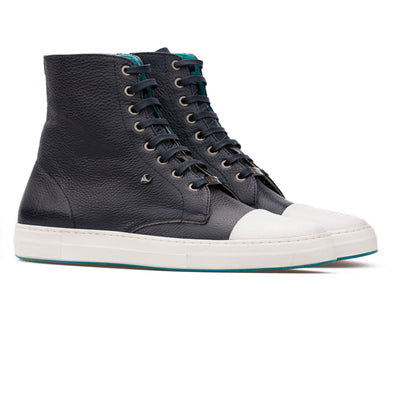 David – Leather Dark Blue & White - BUB Leather Shoes