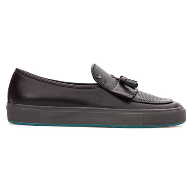 Silas - Black - Calf Leather Tasseled Loafer - BUB Leather Shoes