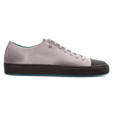 Marco - Grey & Black - Calf Suede & Leather Sneaker - BUB Leather Shoes