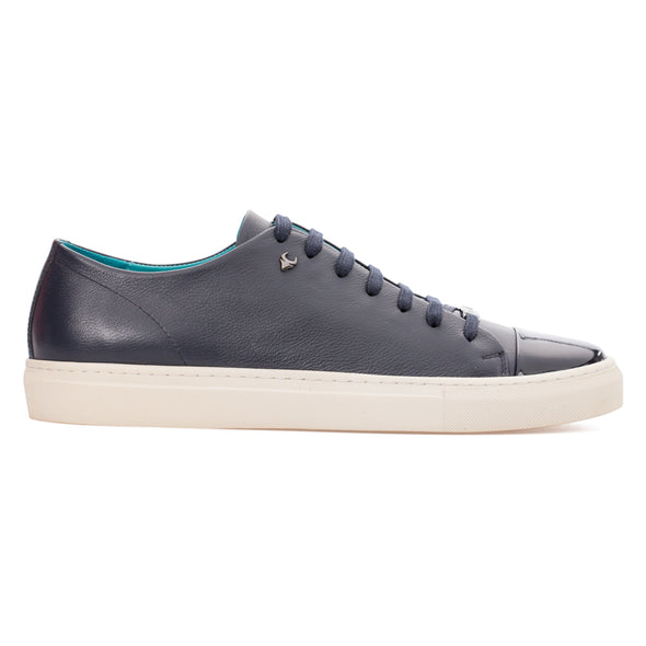 Marco - Dark Blue - Calf Leather Sneaker - BUB Leather Shoes