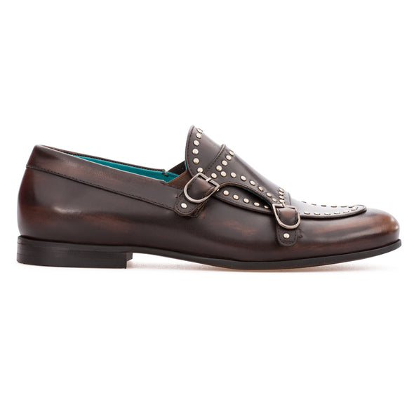 Orion - Brown - Calf Leather Monk Strap - BUB Leather Shoes