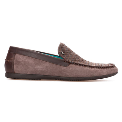 Paul - Mink & Brown - Calf Suede & Leather Loafer - BUB Leather Shoes