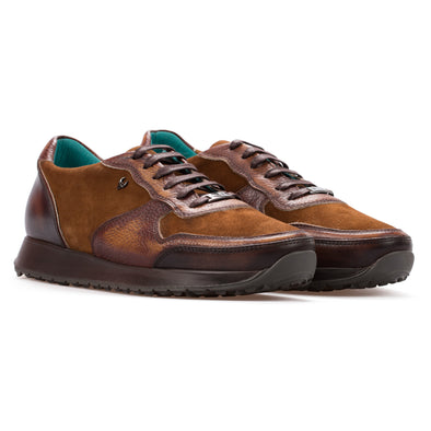 Andre – Leather & Nubuck Tobacco - BUB Leather Shoes