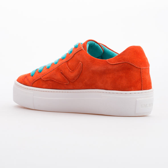 Avril - Orange - Calf Suede Sneaker - BUB Leather Shoes
