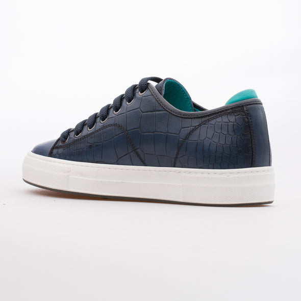Megan - Dark Blue - Calf Leather Sneaker - BUB Leather Shoes