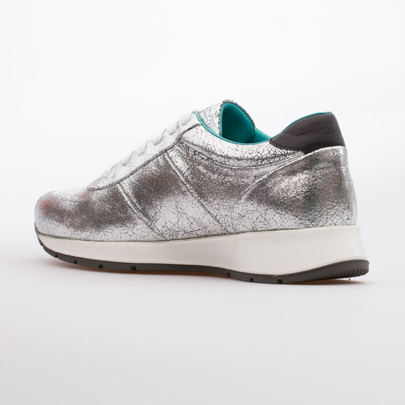 Maria - Silver - Calf Leather Runner - BUB Leather Shoes
