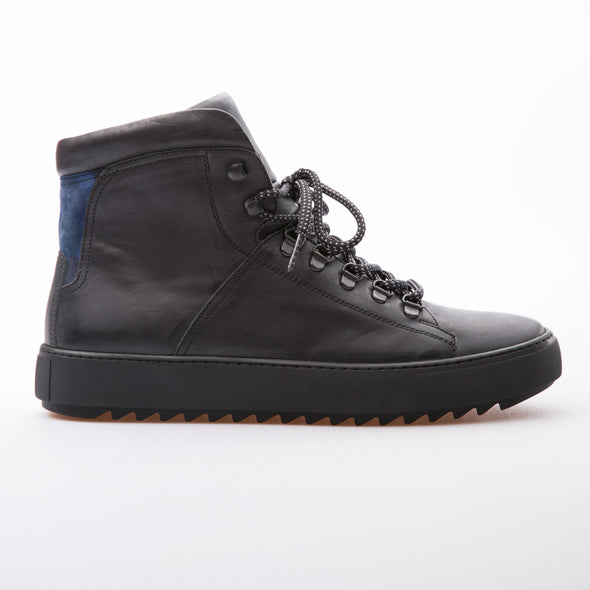 Gerald - Black - Calf Vintage Leather - BUB Leather Shoes