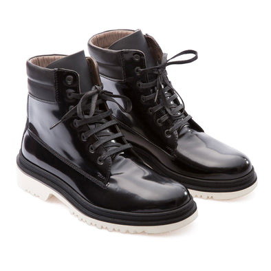 Alessandro - Black - Calf Lack Leather - BUB Leather Shoes