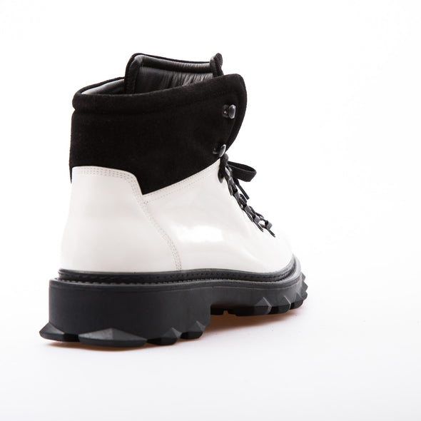 Kanye - White & Black - Calf Lack Leather - BUB Leather Shoes