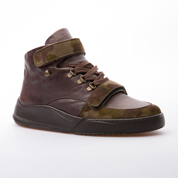 Nero - Brown & Khaki - Calf Leather & Suede - BUB Leather Shoes