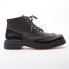 Drake - Black - Calf Vintage & Lack Leather - BUB Leather Shoes