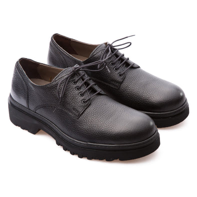 Bobby - Black - Calf Grain Leather - BUB Leather Shoes