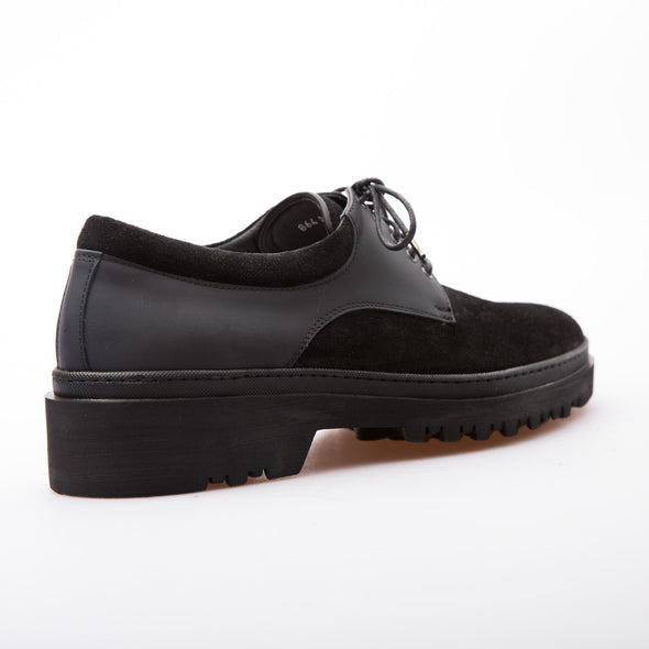Vincent - Black - Calf Suede & Mat Leather - BUB Leather Shoes