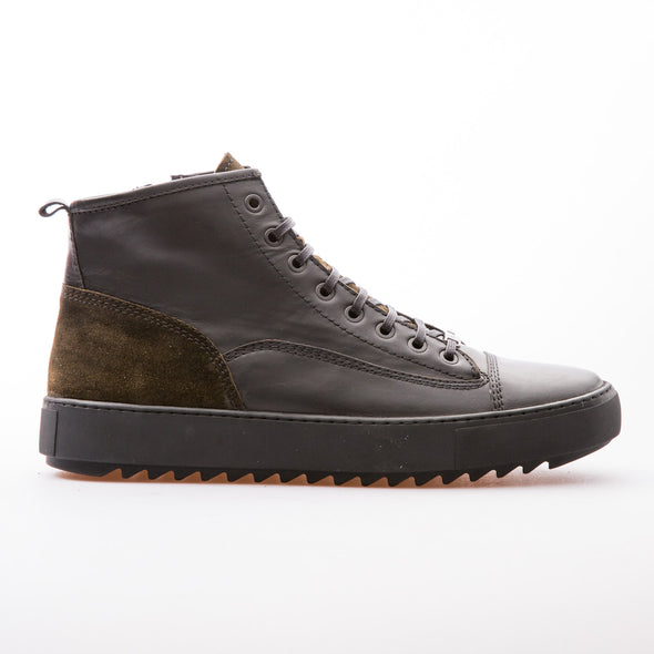 Sean - Black & Khaki - Calf Leather & Suede - BUB Leather Shoes