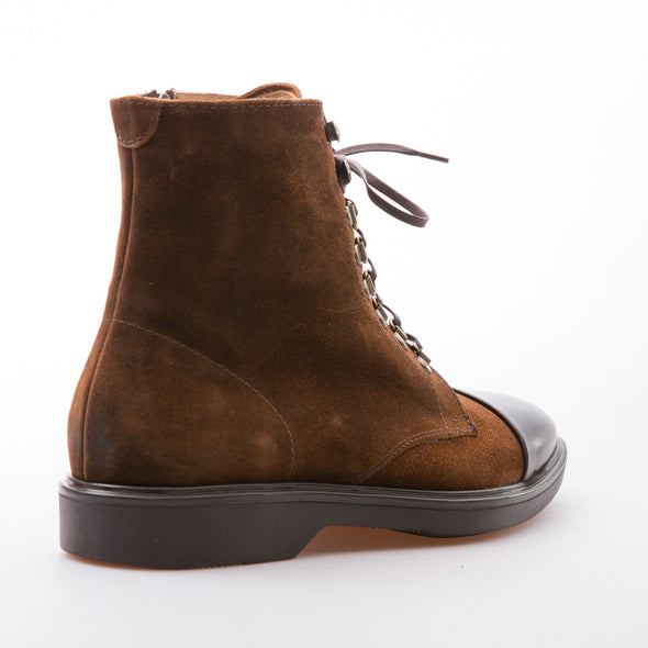 Rodrigo - Tobacco & Brown - Waxy Suede & Calf Leather - BUB Leather Shoes