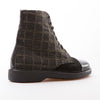 Philippe - Black & Khaki - Fabric & Calf Leather - BUB Leather Shoes