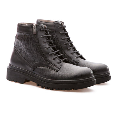 Derek - Black - Calf Grain Leather - BUB Leather Shoes