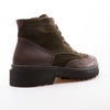 Harold - Khaki & Brown - Waxy Suede & Calf Leather - BUB Leather Shoes