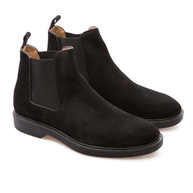 Lennon - Black - Waxy Suede - BUB Leather Shoes