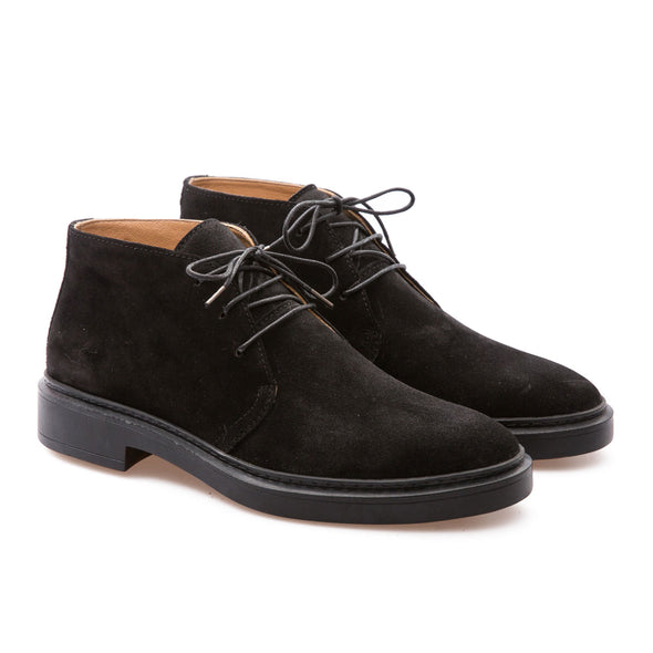 Andrew - Black - Waxy Suede - BUB Leather Shoes