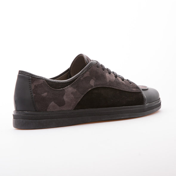 Jeriah - Anthracite & Black - Suede & Calf Leather - BUB Leather Shoes