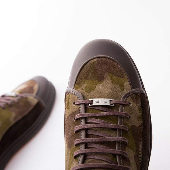 Jeriah - Khaki & Brown - Suede & Calf Leather - BUB Leather Shoes