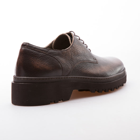 Bobby - Brown - Calf Grain Leather - BUB Leather Shoes