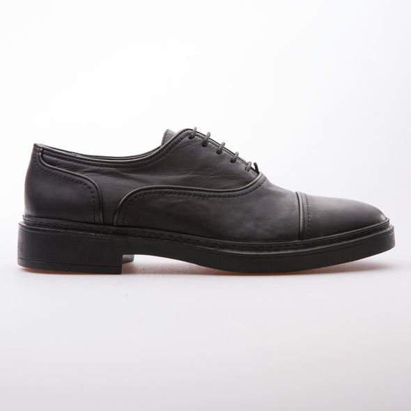 Charles - Black - Calf Vintage Leather - BUB Leather Shoes