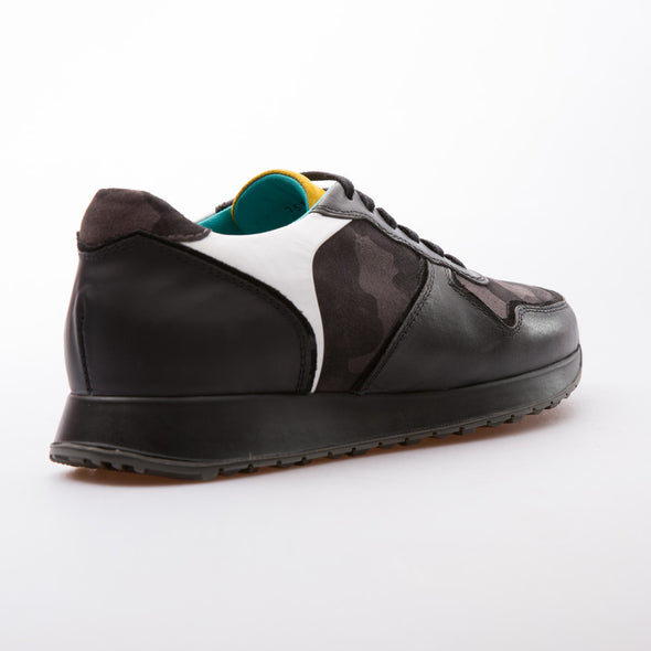 Garcia - Anthracite & Black - Suede & Calf Vintage Leather - BUB Leather Shoes
