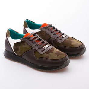 Garcia - Khaki & Brown - Suede & Calf Vintage Leather - BUB Leather Shoes
