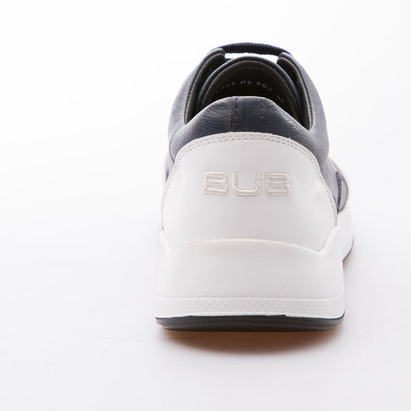 Felix - Dark Blue & White - Calf Leather - BUB Leather Shoes
