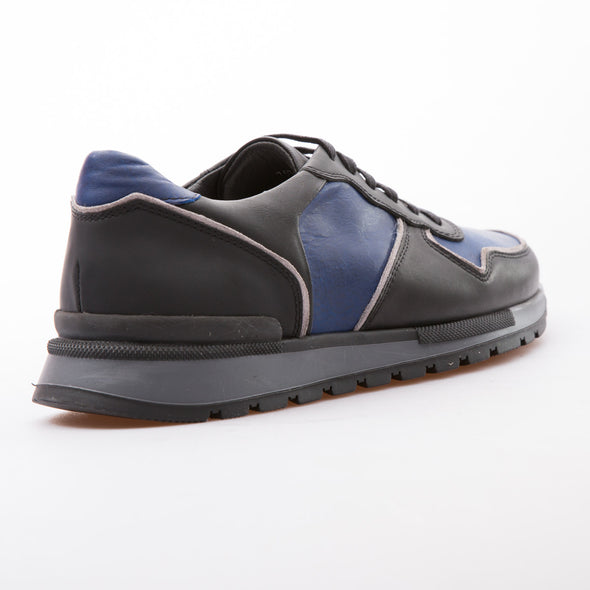 Samuel - Saks Blue & Black - Calf Vintage Leather - BUB Leather Shoes