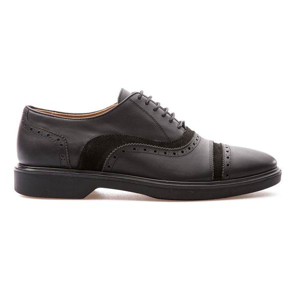 Christopher - Black - Calf Leather & Suede - BUB Leather Shoes