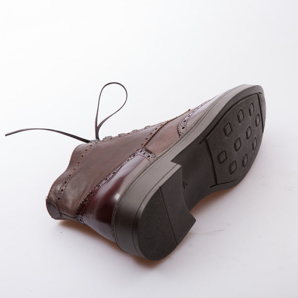 Drake - Brown - Calf Vintage & Lack Leather - BUB Leather Shoes