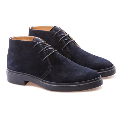 Andrew - Dark Blue - Waxy Suede - BUB Leather Shoes