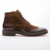 Dustin - Tobacco & Brown - Waxy Suede & Calf Lack Leather - BUB Leather Shoes